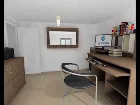 visite virtuelle 3d bureau youtube. Black Bedroom Furniture Sets. Home Design Ideas