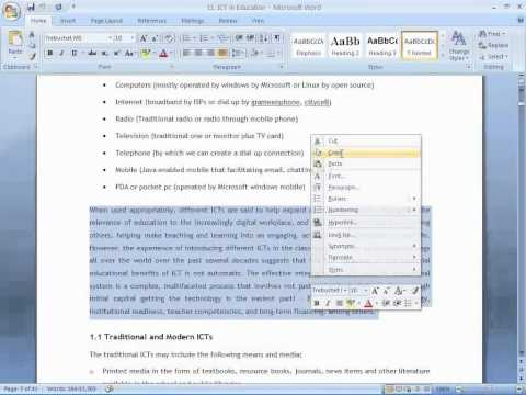 11. How to write  journal or conference paper using templates in MS Word 2007?
