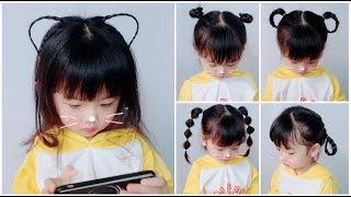 5 Kiểu Cột Tóc Dễ Thương Cho Bé Gái Mầm Non- Cute Little Girl's Hairstyle Tutorials