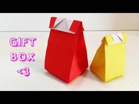Origami Gift Box No Cut No Glue   Rosie DIY