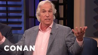 Henry Winkler's Awkward Interactions With Iconic Musicians - CONAN on TBS