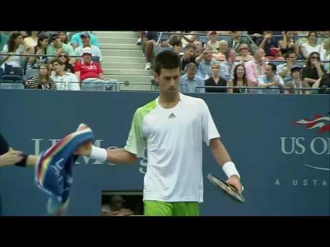 Roger Federer Vs Novak Djokovic   US Open 2008 SF Highlights HD