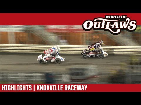 World of Outlaws Craftsman Sprint Cars Knoxville Raceway August 10, 2018 | HIGHLIGHTS