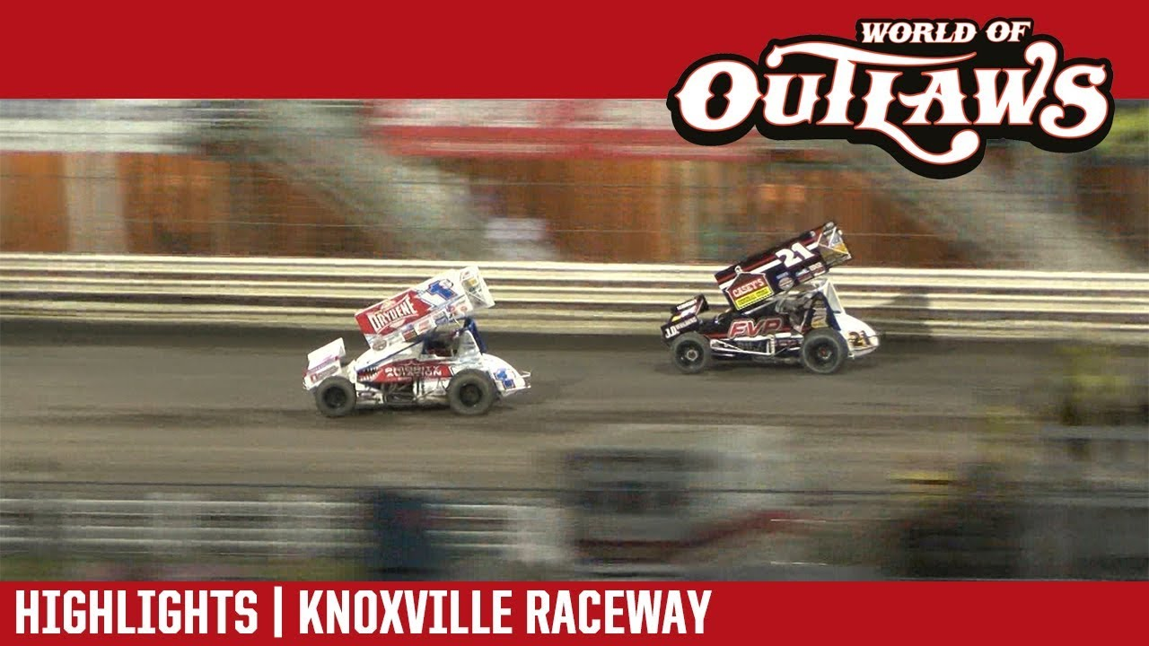 world-of-outlaws-craftsman-sprint-cars-knoxville-raceway-august-10-2018-highlights