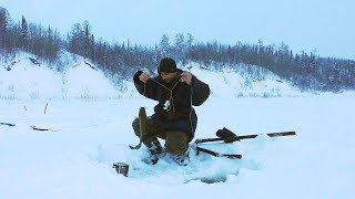 WINTER FISHING \ FISH HUGE RIVER \ LIVE COMMUNICATION WITH THE AUDIENCE \ FISHING 2019