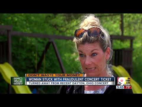Woman stuck with fraudulent concert ticket Mp3