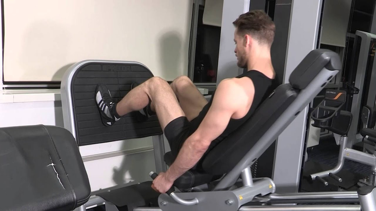 exercice de musculation jambes presse cuisses youtube. Black Bedroom Furniture Sets. Home Design Ideas