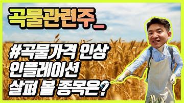 곡물관련주_곡물가격인상 인플레이션 살펴볼 종목은?