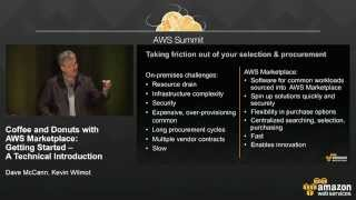 Coffee and Donuts with AWS Marketplace: Getting Started – A Technical Introduction