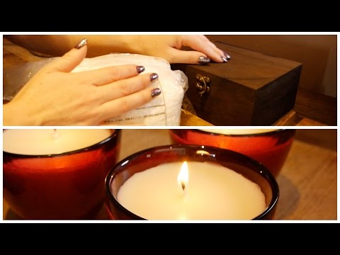 ASMR   Soy Candle Making   Essential Oils, Wax Flakes, Drips & Crinkles
