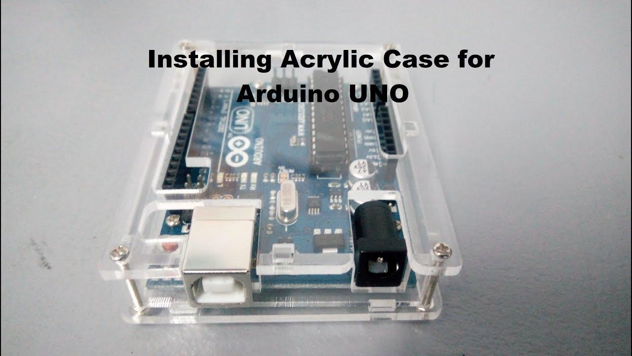 KIT CASE CONTENITORE TRASPARENTE ARDUINO UNO R3 PCB  ACRYLIC BOX modulo
