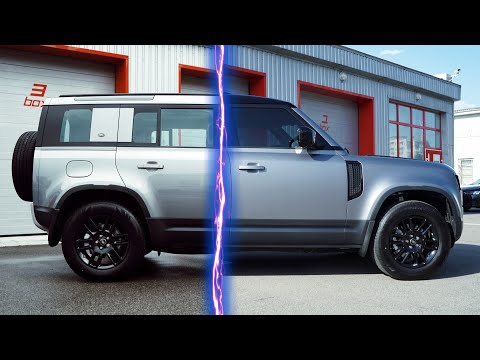 Тюнинг Land Rover Defender 2020 - оклейка матовой защитной пленкой, тонирование авто - Киев, Украина