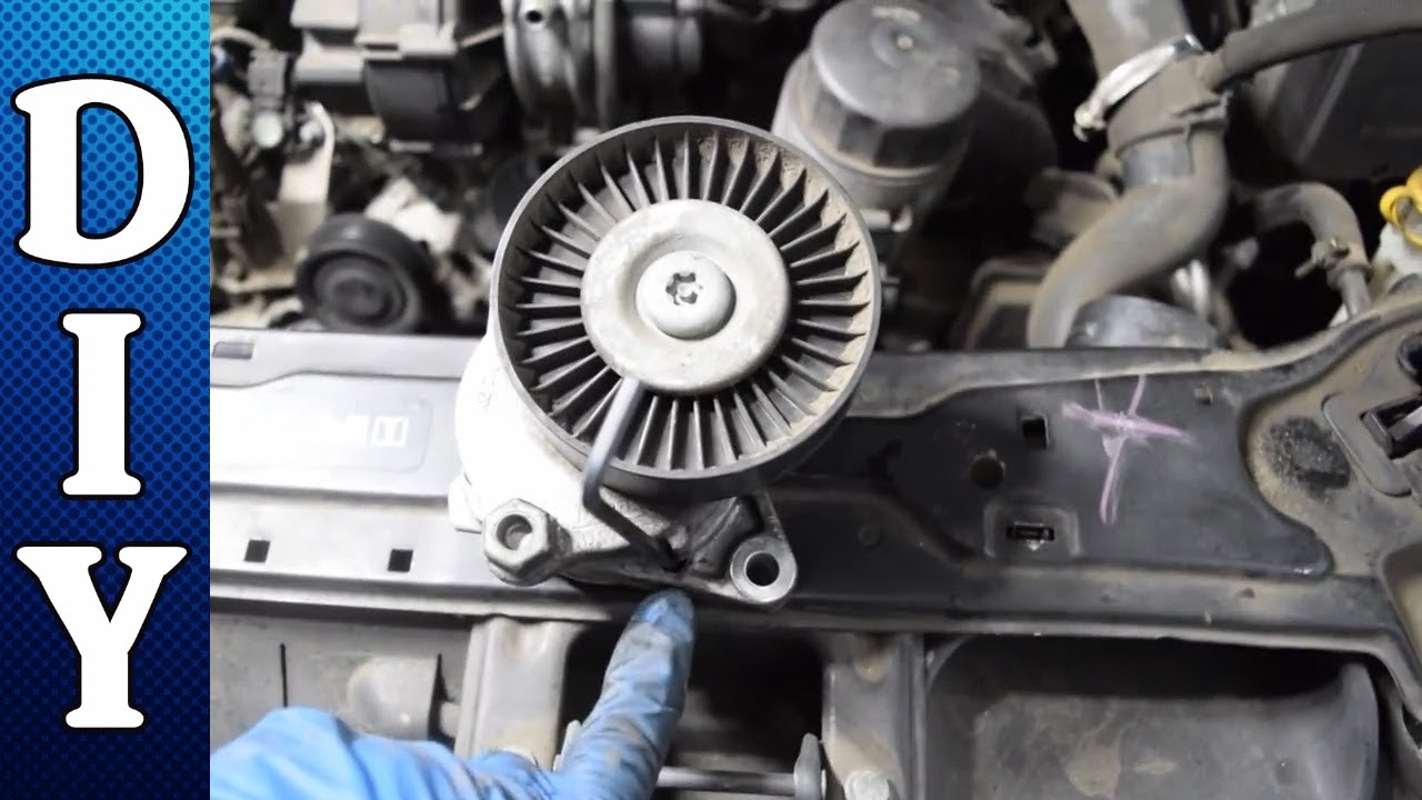 how to replace the serpentine belt and tensioner - mercedes c240 c320 e320  clk320 ml320 v6 - youtube