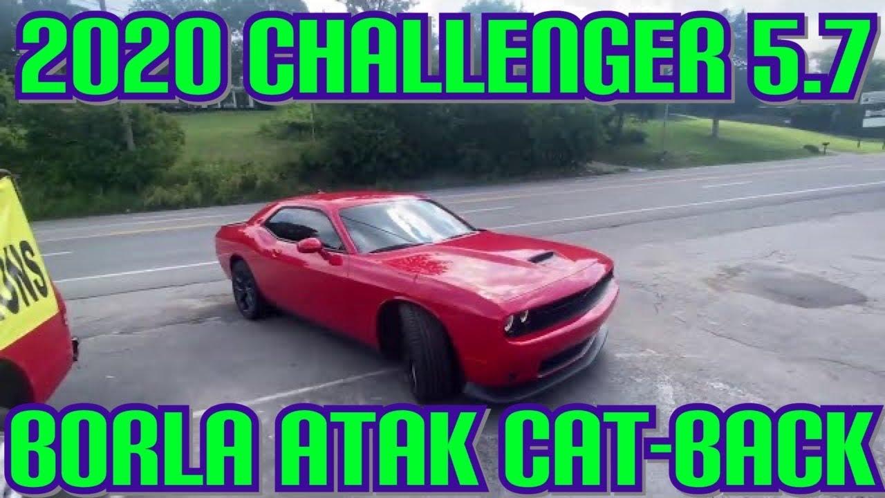 2020 dodge challenger r t 5 7l hemi dual exhaust w borla atak cat back