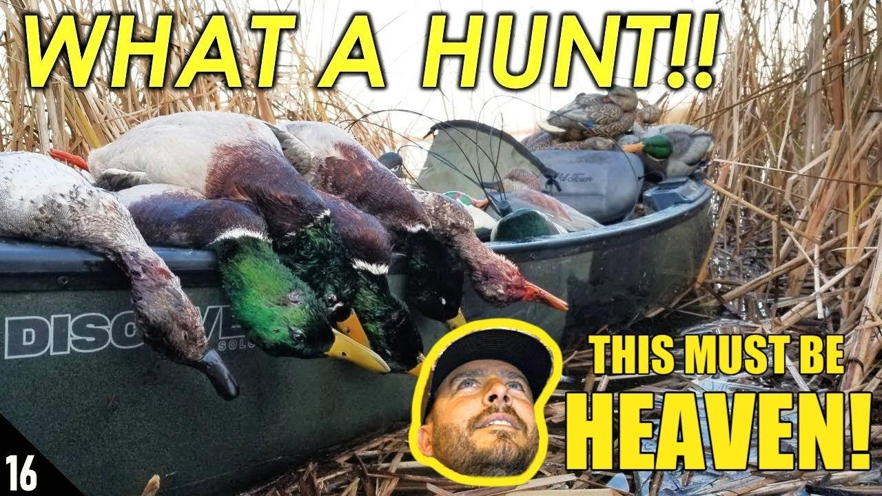 EPIC SOLO Migration Kayak Duck Hunt Reaction of High Prairie Sportsman