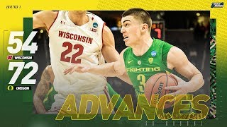 Wisconsin vs. Oregon: First round NCAA tournament extended highlights