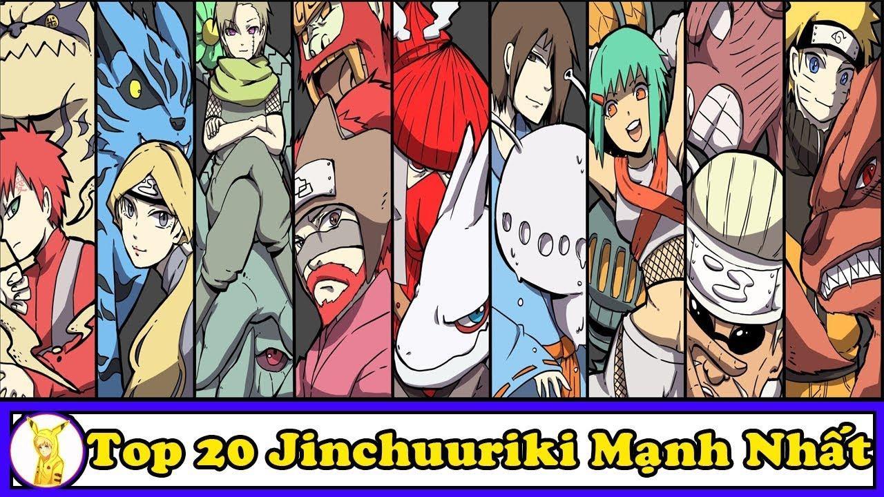 Top 20 Jinchuuriki Mạnh Nhất Lịch Sử Thế Giới Nhẫn Giả Trong Anime Naruto & Boruto