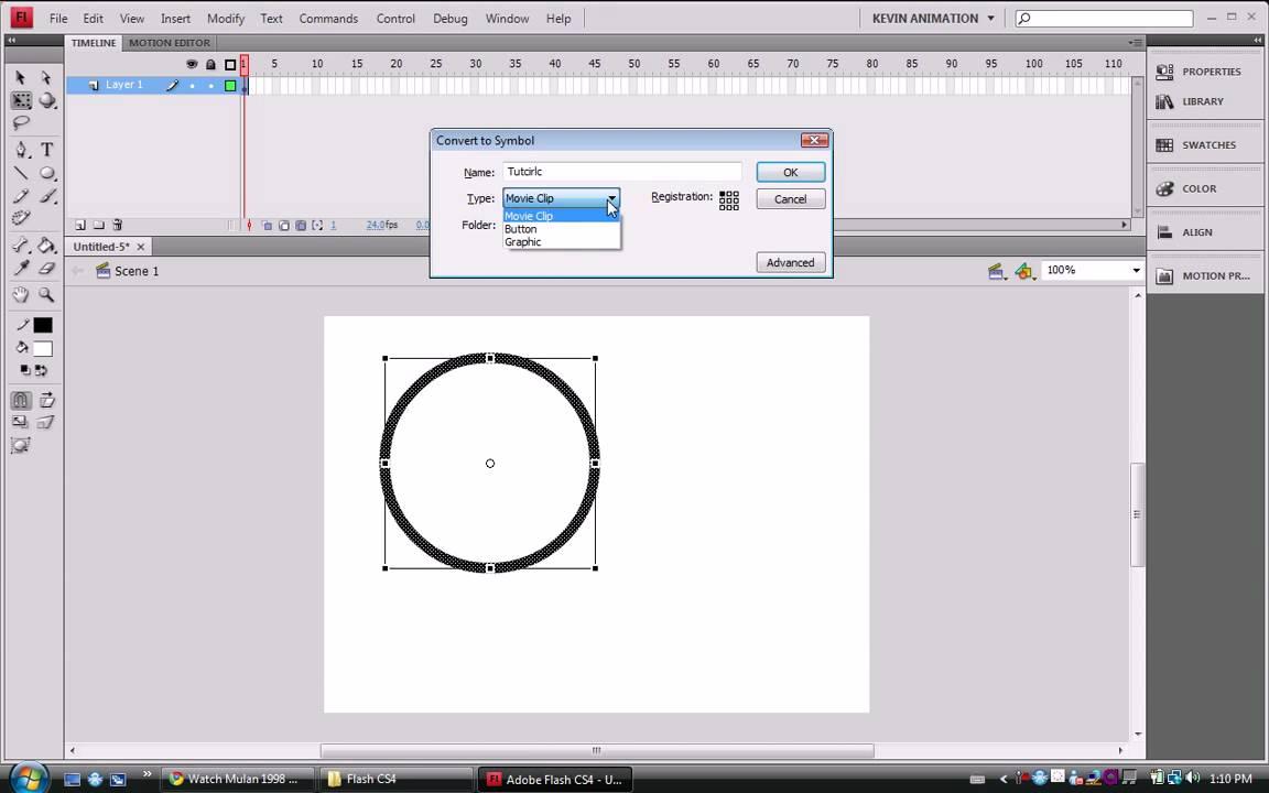 Flash cs4 tutorials converting to symbols youtube flash cs4 tutorials converting to symbols buycottarizona