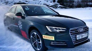 Валим на новой Audi A4 на боевом шипе с разворотом на 360 градусов! Карелия, quattro + 10 Q7 3 0 TDI