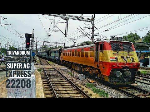 Trivandrum Central Chennai Central SUPER AC Express 22208   Grandie WAP-1   India's Hidden Rajdhani