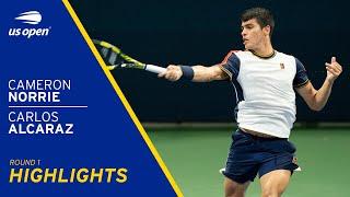 Cameron Norrie vs Carlos Alcaraz Highlights | 2021 US Open Round 1