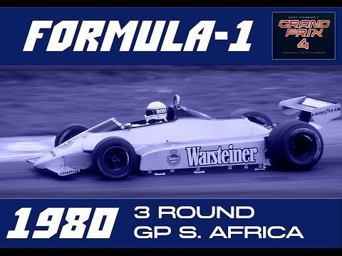Grand Prix 4. World AI Formula-1 Championship 1980. 3 round. South Africa.Race. 32 laps