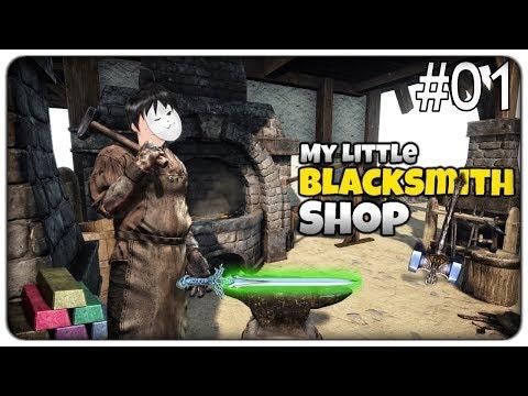 CRAFTIAMO ARMI E SCUDI LEGGENDARI NELLA NOSTRA FORGIA | My Little Blacksmith Shop - ep. 01