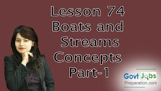 Lesson 74 Boats and Streams Concepts Part-1