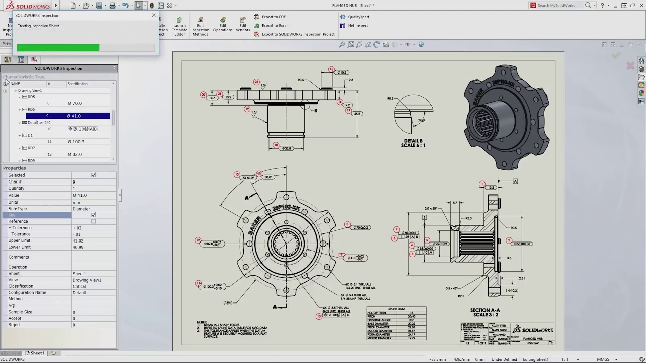 SOLIDWORKS Inspection Drawing & Report Automation Software