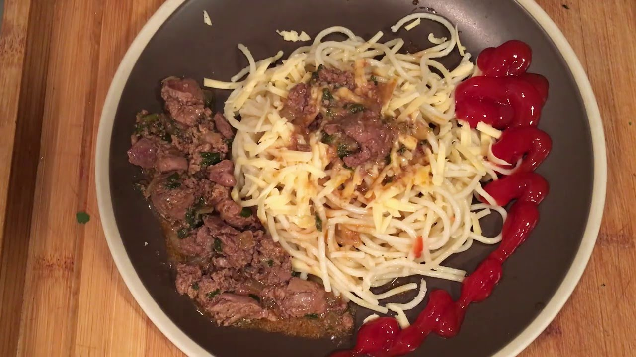 Вкуснятина - спагетти с сыром и печенкой! Рецепт пасты или спагетти с сыром и печенкой.