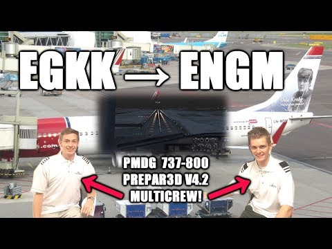 👨‍✈️✈️👨‍✈️ VATSIM Flight | 2 Pilots! | Gatwick to Oslo | LATE Landing! | Norwegian 737-800 | P3D 4.2