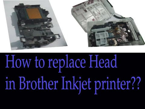 How replace the printer head in Brother DCP-T300 printer