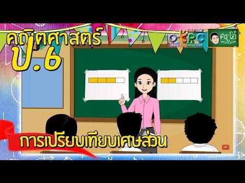 การเปรียบเทียบเศษส่วน - คณิตศาสตร์ ป.6