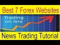 Best 7 Websites for News | Forex Fundamental Trading Tutorial by Tani Forex in Urdu and Hindi