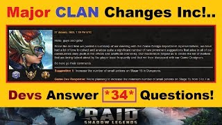 *MAJOR* Clan Boss Changes Inc!.. *DUPE* Champion New Uses & Tons More!.. [RAID: Shadow Legends]