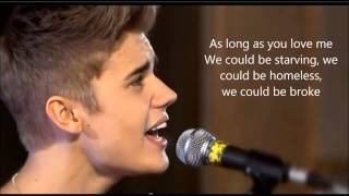 Justin Bieber -  As long as you love me Acoustic lyric video