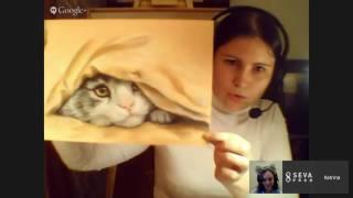 Вебинар: рыжий кот сухой пастелью