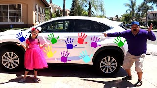 Jannie Pretend Play Hand Painting with Colorful Colors | Fun Finger Paints Art for Kids