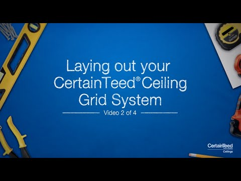 How-To Lay Out Your CertainTeed Ceiling Grid System - YouTube