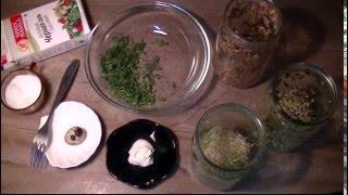 Живая кухня. Салат из проростков.