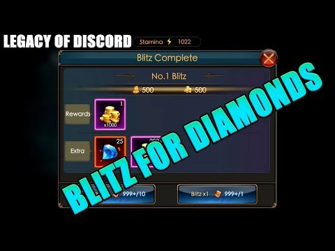 Legacy of Discord: TIPS? Blitz for Diamonds