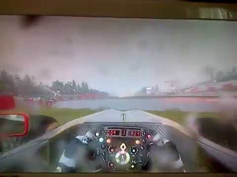 F1 2011 Game crash montage