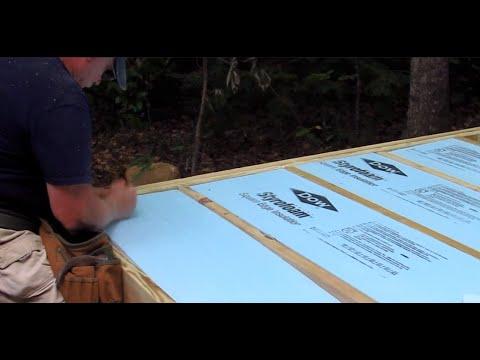 DIY Shed AsktheBuilder Foam Insulation Floor Joists Part 2