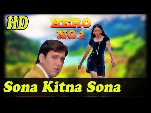Sona Kitna Sona Hai Full HD with JhankarHero No 1 1997 Udit Narayan Poornima
