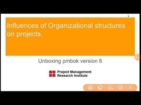 Unboxing PMBOK 6 : Organizational structures