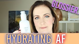 Hydrating AF!!! Glossier Review FACE cleanser (2018) Milky Jelly cleanser | Claire Tutorials