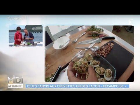 recette-:-Œufs-farcis-à-la-fécampoise-aux-crevettes-grises