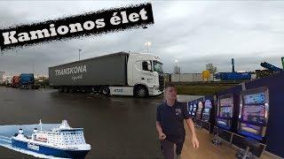 A kamionos -Malmö-Travemünde hajóval