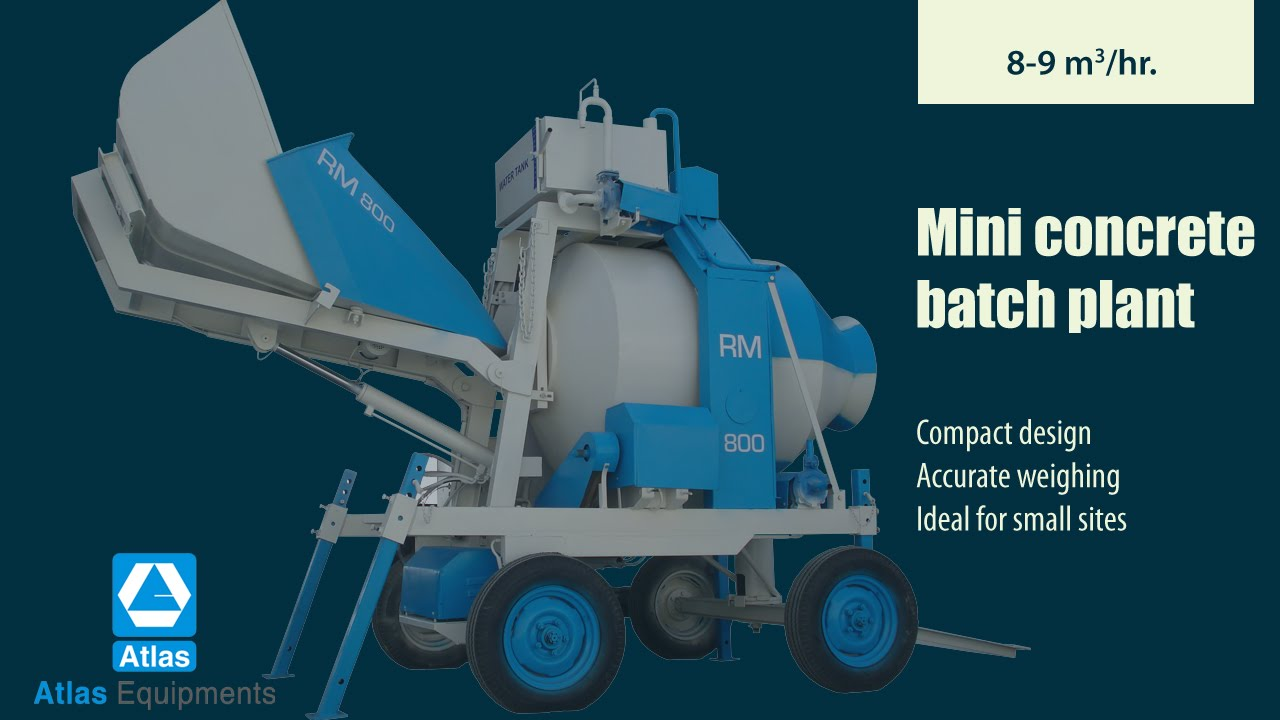 Mini Concrete Batch Plant : Small concrete batch plant for sale mini