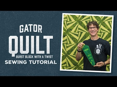 Make a Gator Quilt with Rob!